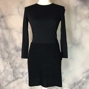 Donna Karan Black Long Sleeved Black Dress Size 8